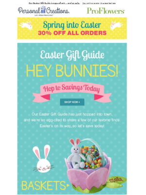 🐰 This Sale Is Better than Chocolate. Save 30% Sitewide.