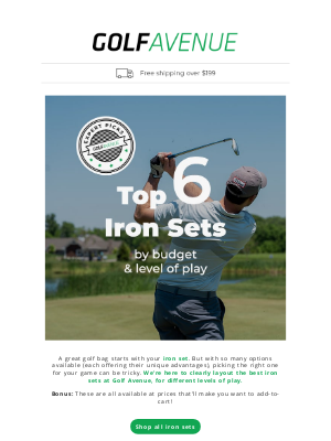 Golf Avenue (CA) - Iron Sets as low as $414.97 😲