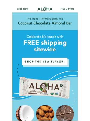 ALOHA - 🥥   Say ALOHA to the Coconut Chocolate Almond Bar 🌴