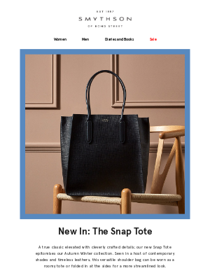 New In: The Snap Tote