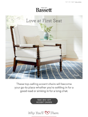 Bassett Furniture Industries - Meet Our 5 Most-Loved Chairs