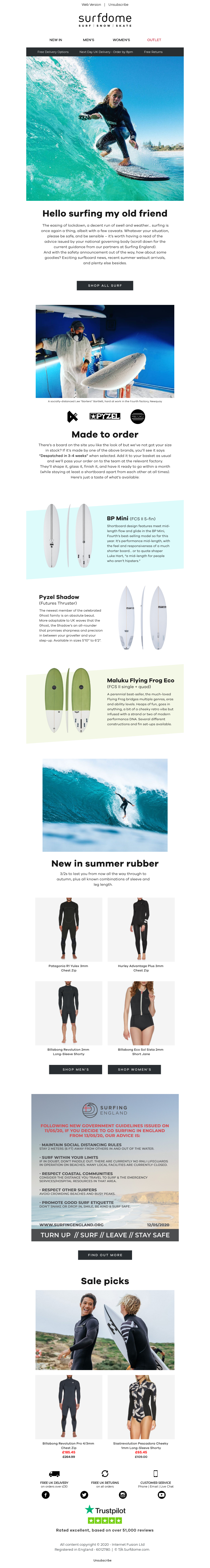 Web Version | Unsubscribe Hello surfing my old friend Made to order BP Mini