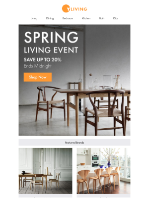 Spring Living Event Ends Midnight: Save up to 20%