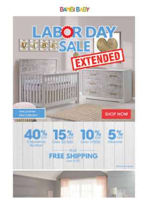 Bambi Baby Store - ⏰ More Time to Save Big! Labor Day Sale Extended