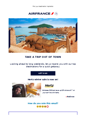 Air France - Escape for a long weekend
