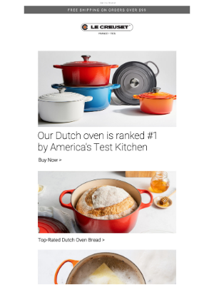 Le Creuset - #1 Ranked Dutch Oven by America's Test Kitchen
