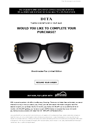 DITA Eyewear - Did you forget something?