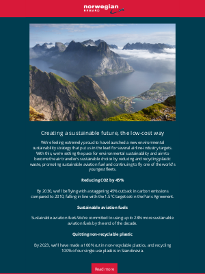 Norwegian Air Shuttle - Norwegian's new environmental sustainability strategy