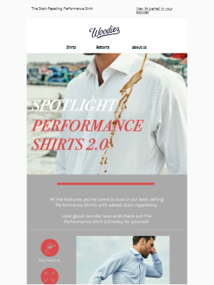 Spotlight: The Stain Repelling Performance Shirt