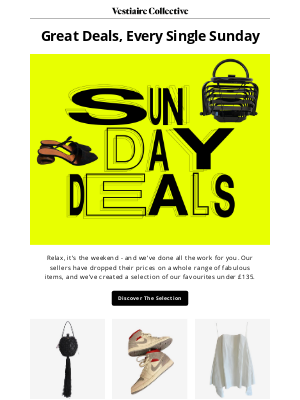 Vestiaire Collective - Say Hello To Sunday Deals