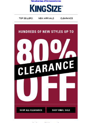 King Size Direct - UP TO 80% OFF ↔ CLEARANCE ↔ 100s OF STYLES