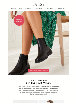 Joules (UK) - Let's hear it for clearance!