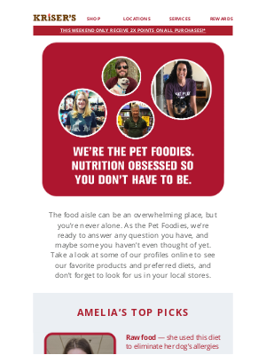 Kriser's Natural Pet - A Team of Experts, At Your Service