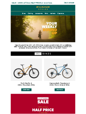 Evans Cycles (UK) - Your weekly round-up