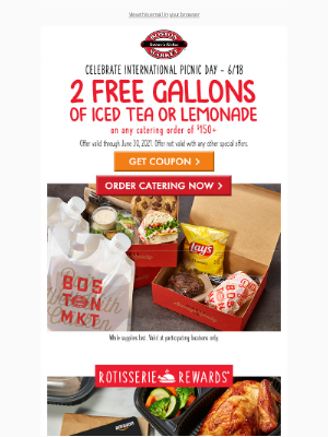 Boston Market - Lynn, This Offer Is Cool & Sweet