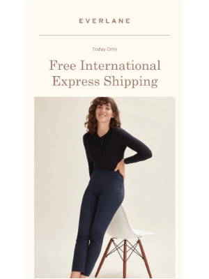 Today Only: Free International Shipping