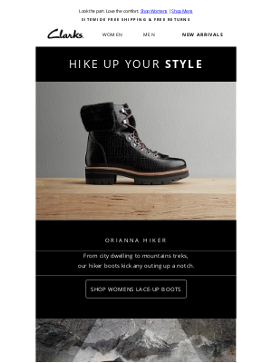 Clarks Shoes - Here Come Hiker Boots