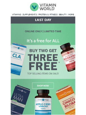 ❗LAST DAY for Buy 2, Get 3 FREE Mix & Match