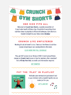 Crunch Fitness - Welcome to Gym Shorts