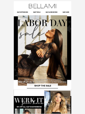 BELLAMI Hair - Shop 10% Off All Extensions for The BELLAMI Labor Day Sale