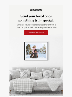 CanvasPop - [50% off] Enter for a chance to win $1000 worth of wall art!