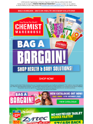 Chemist Warehouse Australia - Bag a Bargain - Save on Health and Baby Solutions!