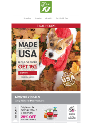 Only Natural Pet - ★★★ ENDS MIDNIGHT: 15% OFF USA MADE (Over 2,000 products!) ★★★