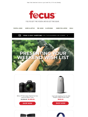 Focus Camera - Some Of Our Faves Are Now On Sale 🤩 | Up To 50% Off