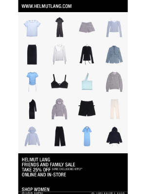HELMUT LANG - 25% off Sitewide Ends Tomorrow — Save Up to 70% off