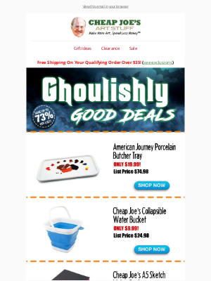 Cheap Joe's Art Stuff - Scary Good Savings and...