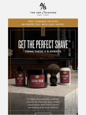 The Art of Shaving - Transform Your Shave with 4 Elements