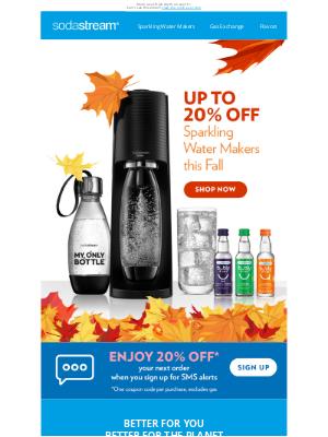 SodaStream - Enjoy 20% OFF This Fall 🍂