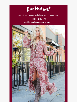 Fall Floral Maxi Dresses for $34.99
