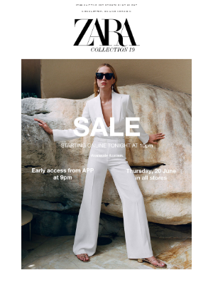SALE starts tonight at 10pm at zara.com