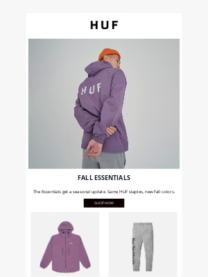 HUF Worldwide - The Essentials // New Fall Colors