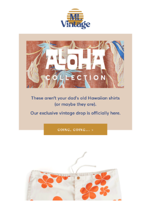 Marine Layer - It's here: ML Vintage Aloha Collection