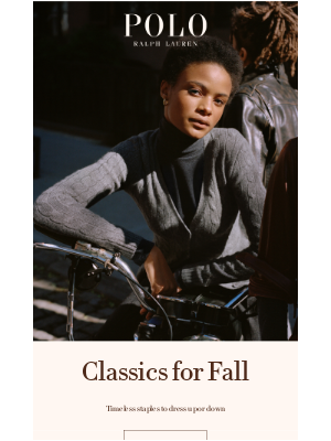 Ralph Lauren - These Timeless Classics Are Fall Staples