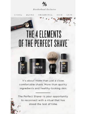 The Art of Shaving - Reconnect with One of Man's Great Rituals.