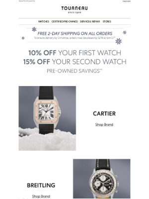 Tourneau - Holiday Savings: Your Exclusive Weekend Offer