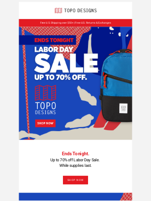 Topo Designs - Labor Day Sale: Ends Tonight