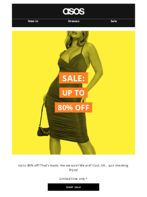 ASOS (US) - The sale's now up to 80% off!