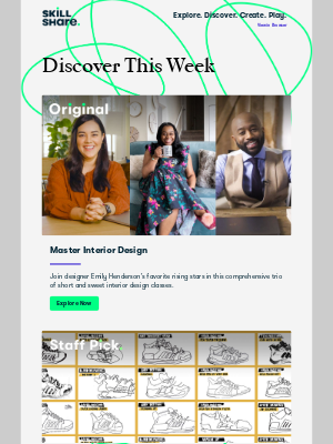 Skillshare - Delores, explore interior design, improve your line drawings, and more!