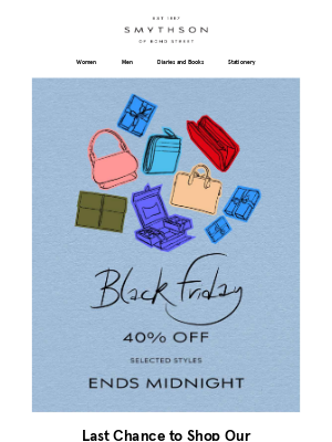 Smythson - Our Black Friday Event ends midnight