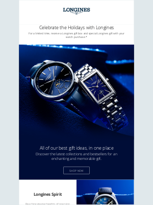 Longines Watch Co. - The Holiday Gift Guide is Here