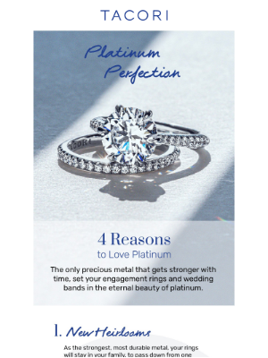 Tacori - 4 Reasons to Love Platinum 💙