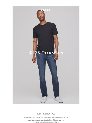 DL1961 Premium Denim - The $125 Premium Essentials Collection