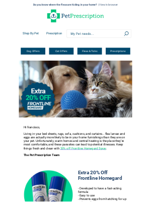 Pet Prescription (UK) - EXTRA 20% off Homegard flea spray | 6 months protection for your pet & home ✔