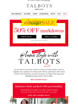 Talbots - New Talbots @ Home tips for living well this summer ☀️