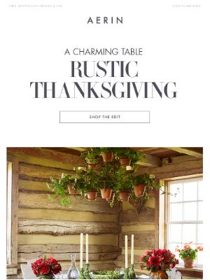 AERIN LLC - Rustic Thanksgiving
