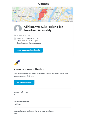Abhimanyu K. needs Furniture Assembly in Secaucus, NJ